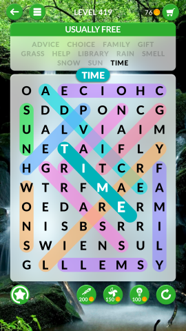 wordscapes search level 419