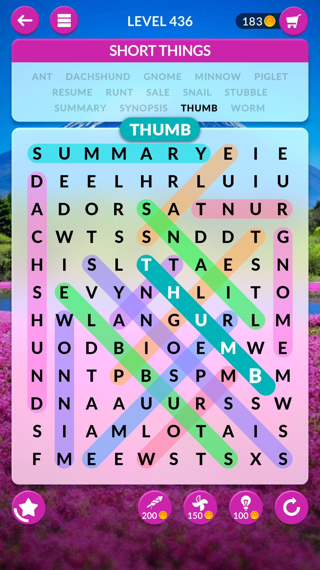 wordscapes search level 436