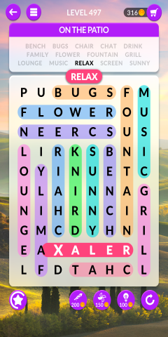wordscapes search level 497