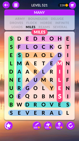 wordscapes search level 521