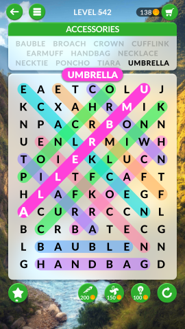 wordscapes search level 542