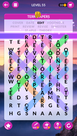 wordscapes search level 55