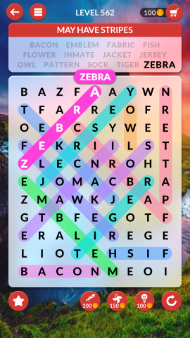 wordscapes search level 562