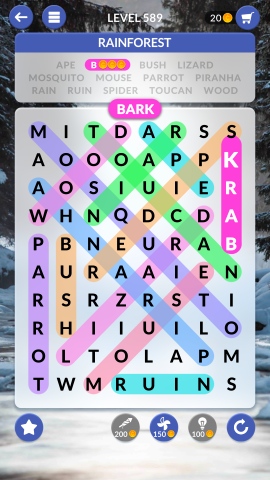 wordscapes search level 589