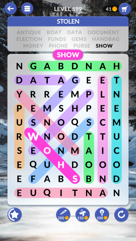 wordscapes search level 599