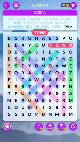 wordscapes search level 608