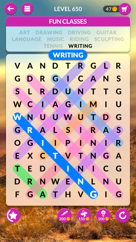 wordscapes search level 650
