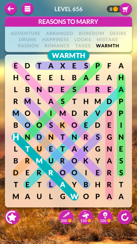 wordscapes search level 656