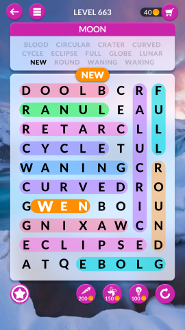 wordscapes search level 663