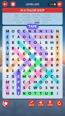 wordscapes search level 692