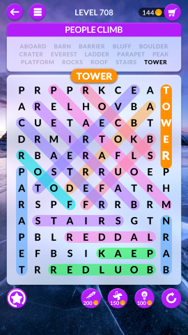 wordscapes search level 708