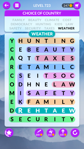 wordscapes search level 723