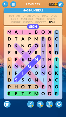 wordscapes search level 733