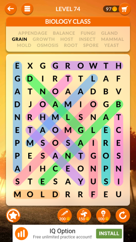 wordscapes search level 74