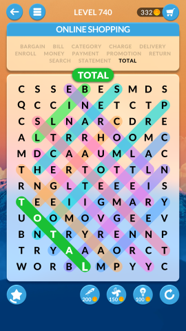 wordscapes search level 740