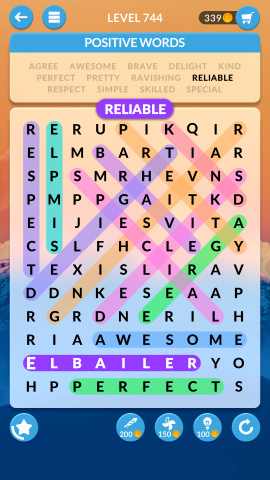 wordscapes search level 744