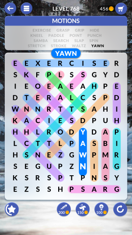 wordscapes search level 768