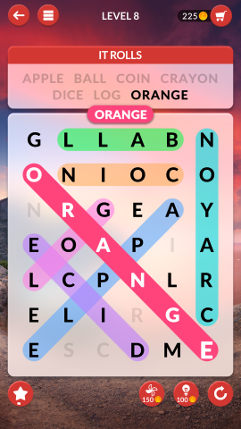 wordscapes search level 8