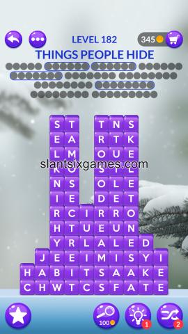 Word stacks level 182