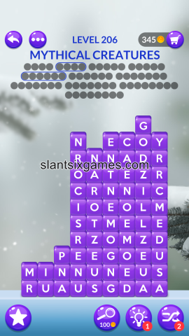 Word stacks level 206