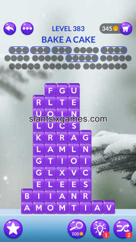 Word stacks level 383