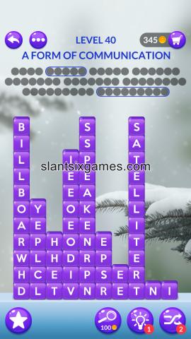Word stacks level 40