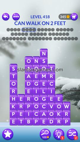 Word stacks level 418