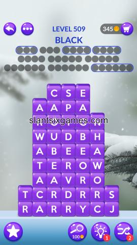 Word stacks level 509