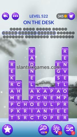 Word stacks level 522
