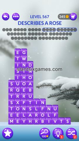 Word stacks level 567