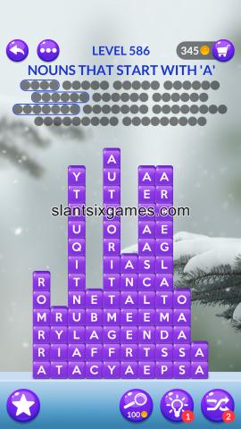 Word stacks level 586
