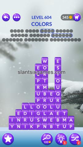 Word stacks level 604