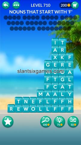 Word stacks level 710
