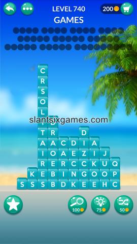 Word stacks level 740