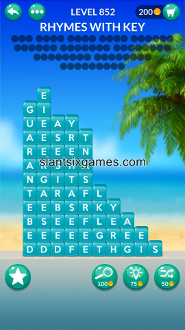 Word stacks level 852