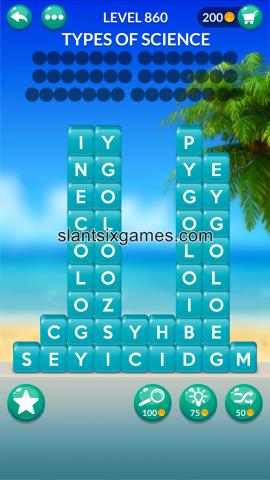 Word stacks level 860