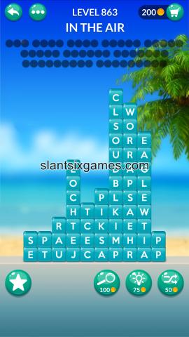 Word stacks level 863