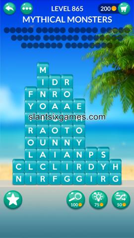 Word stacks level 865