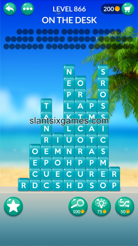 Word stacks level 866