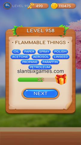 Word swipe level 958