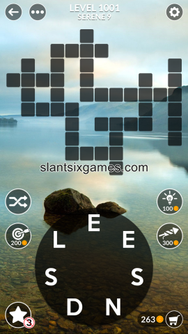 Wordscapes level 1001