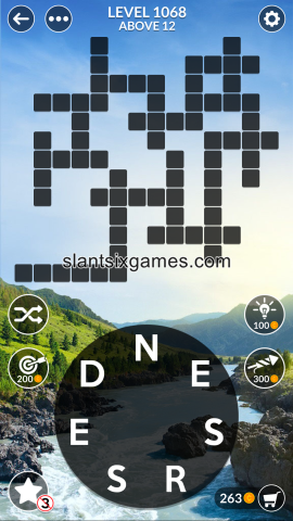 Wordscapes level 1068