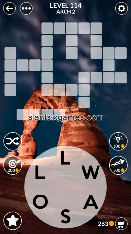 Wordscapes level 114