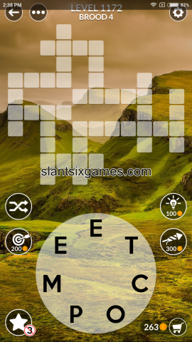 Wordscapes level 1172