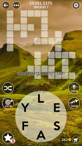 Wordscapes level 1175