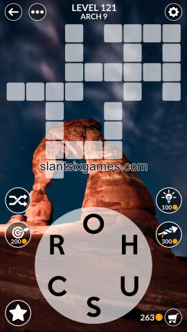 Wordscapes level 121