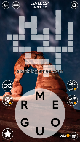Wordscapes level 124