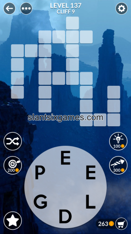 Wordscapes level 137