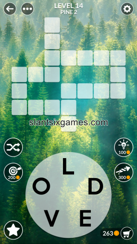Wordscapes level 14