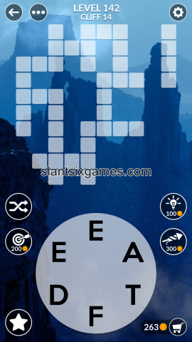 Wordscapes level 142